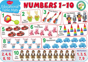 Educational Table Mats Number 1-20