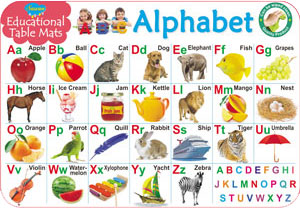 Educational Table Mats Alphabet
