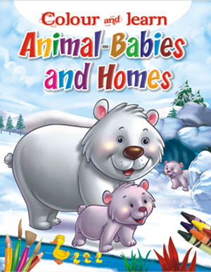 Colour & Learn Animals Babies and there Home