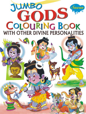 Jumbo Gods Colouring Book With Divine Personality