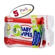 BABY WIPES CHAMOMILE 10 SHEETS, 5 IN 1