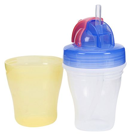 DOUBLE LAYER SUCKING CUP(Yellow& blue)