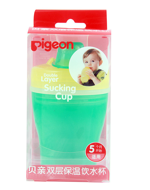 DOUBLE LAYER SUCKING CUP(YELLOW & GREEN)