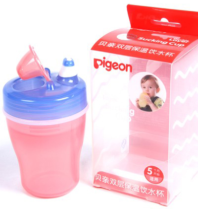 DOUBLE LAYER SUCKING CUP(PINK & BLUE)