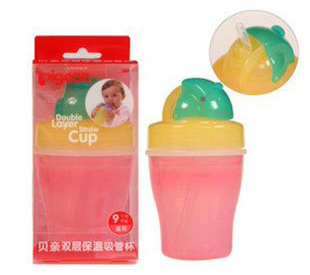 DOUBLE LAYER SUCKING CUP(PINK & YELLOW)