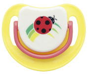 SILICONE PACIFIER STEP 1, LADY BIRD