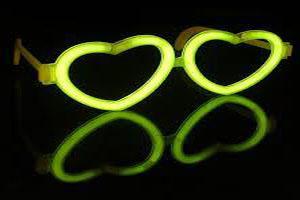 Glow goggles heart shape