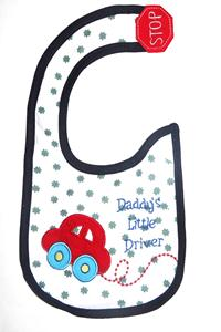Daddy's Little driver baby bibs