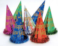Birthday Paper Cone Cap (Small HB Foil)