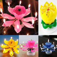 Revolving Musical Lotus Candle
