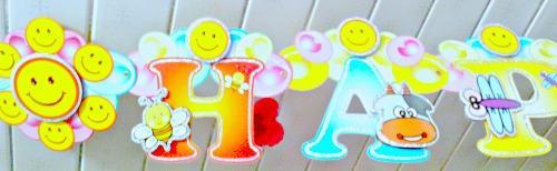 3D Glitter China Banner