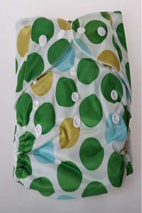 Cloth Diaper - Green Rounds