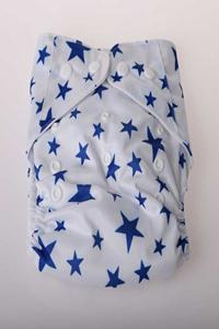 Cloth Diaper - Blue Star