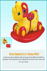 GIRNAR ELEPHANT 2 IN 1 ROCKER(PVC)