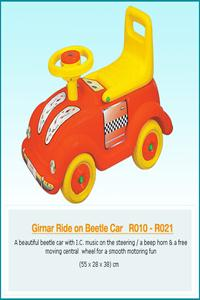GIRNAR RIDE ON BEETLE CAR W /HORN