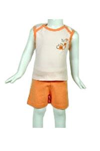 Orange Sleeveless Tops and Shorts