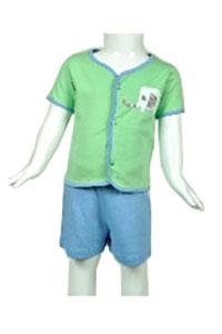 Green Half Sleeve Tops and Shorts