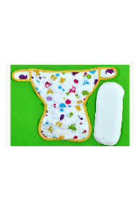 L & XL-WATERPRROOF DIAPER WITH 2 INSERT PADS