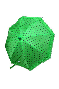 Block dotted on Green umbrella