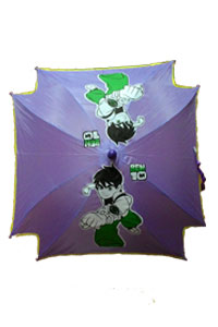 Doll Printed Purple umbrella