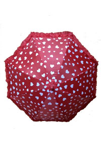Kids Umberlla Red with white dotted