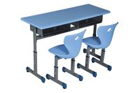 Double Seater Desk and Chair blue