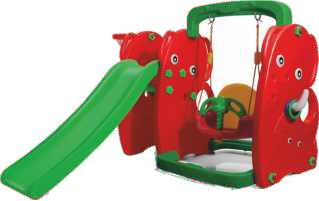 Elephant Slide With Swing
